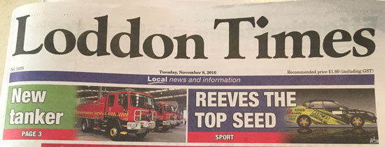 Brendan Reeves featured in the Loddon Times